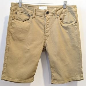 Jack & Jones tan denim shorts medium